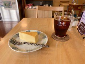 堀口珈琲狛江店 サマーブレンドVer2アイスコーヒーとベイクドチーズケーキ