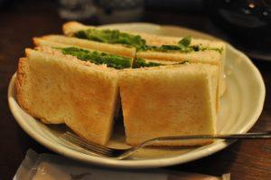 高山珈琲ホットサンドツナチェダーチーズ
