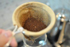 ネル コーヒー粉入れた状態