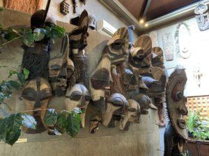 サザコーヒー本店仮面の部屋