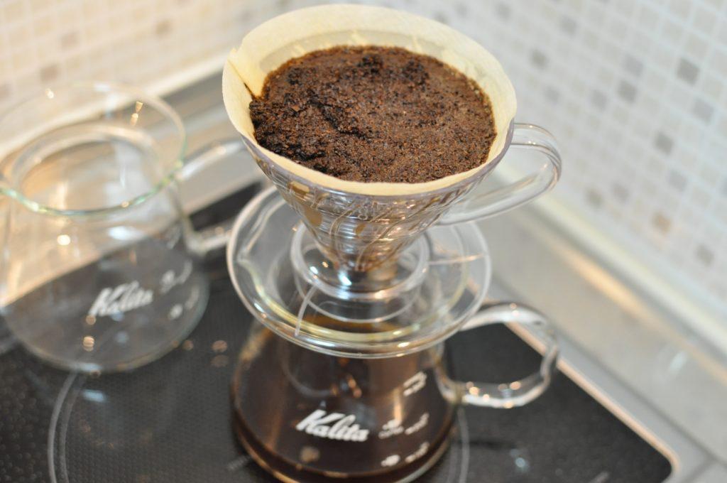 コーヒー粉のセット完了