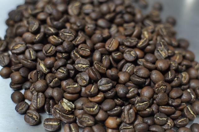 焙煎したコーヒー