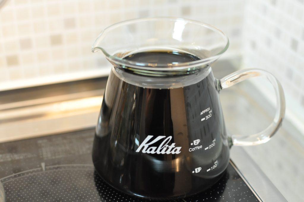 完成したコーヒー