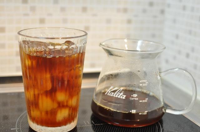 アイスコーヒーの完成