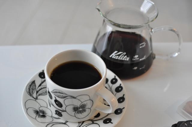 ネルで淹れたコーヒー