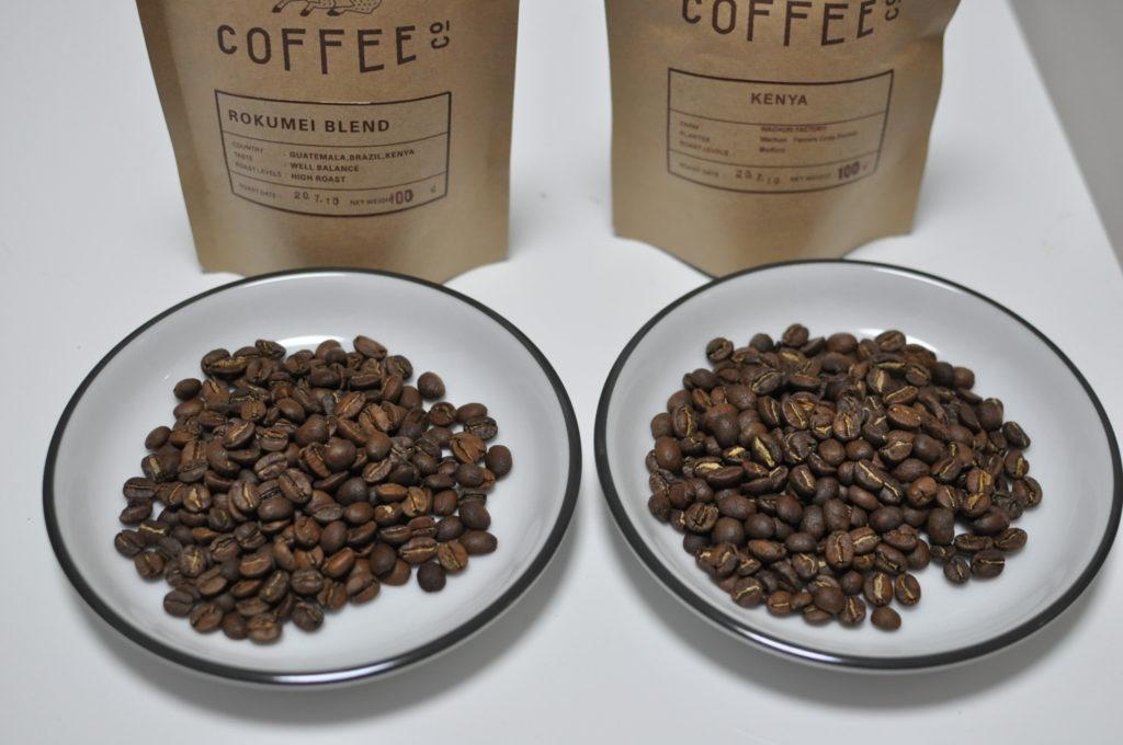 ロクメイコーヒー豆