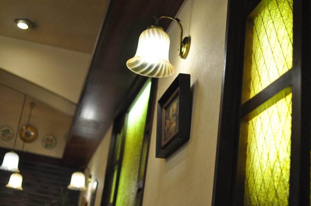 お店のランプ