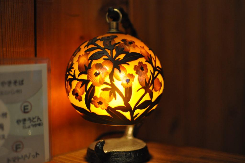 蔵のランプ