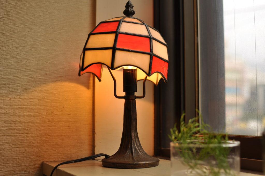 どりっぷ店内のランプ