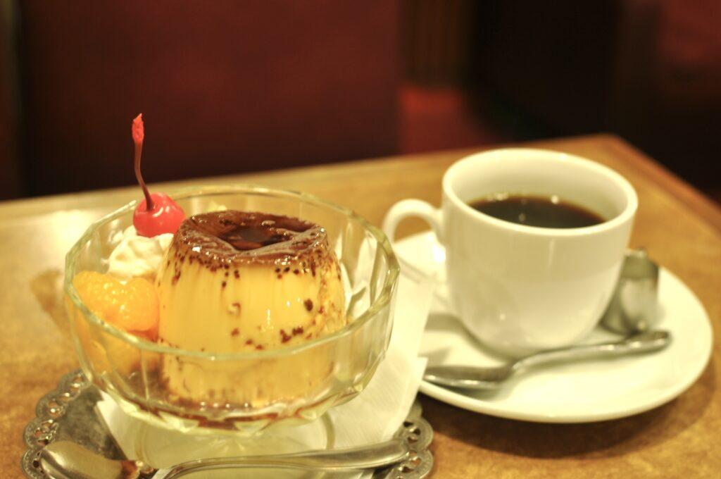 プリンとコーヒー
