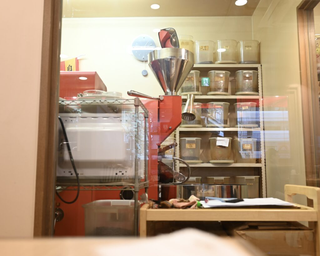 カフェカルモ焙煎機